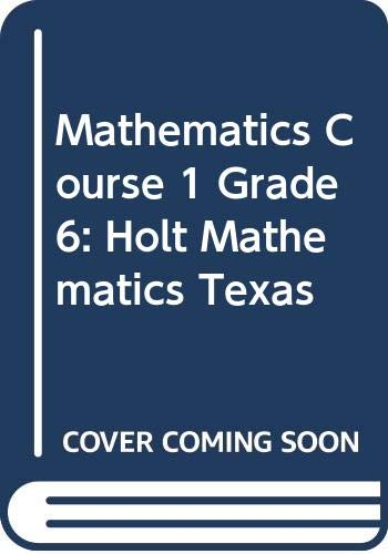 9780030926280: Holt Mathematics Texas: Studten Edition (Spanish) Course 1 2007