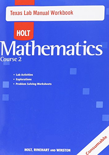 9780030926457: Holt Mathematics Texas: Lab Manual Course 2