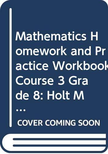 9780030926686: Holt Mathematics Texas: Homework and Practice Workbook Course 3