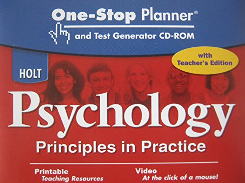 9780030927171: Holt Psychology: Principles in Practice: Teacher's One-Stop Planner and Test Generator CD-ROM