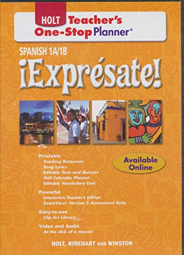9780030927195: iExpresate! Teacher One-Stop Planner, Levels 1A/1B (Spanish Edition)