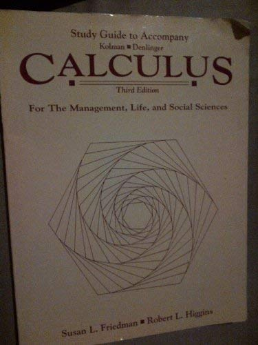 9780030927331: Calculus for Management
