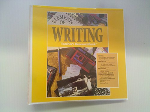 Elements of Writing First Course (Teacher's ResourceBank): HBJ/Holt Rinehart Winston Staff