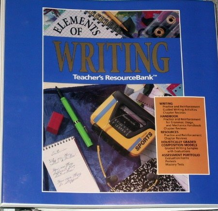 9780030927843: Elements of Writing First Course Teacher's Resource Bank Binder w/Keys (Grade 7)