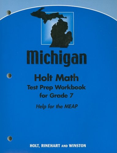 9780030929311: Michigan Holt Math Test Prep Workbook for Grade 7: Help for the MEAP