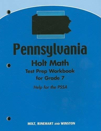 9780030929328: Holt Mathematics Mississippi: Test Prep Workbook Grade 7