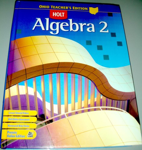 9780030930157: Holt Algebra 2 Teacher's Edition (Ohio)