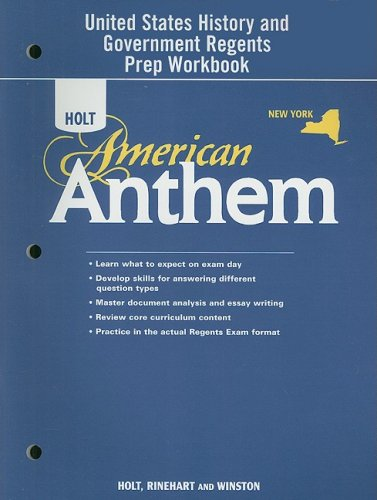 9780030930225: Holt McDougal American Anthem © 2009 New York: Regents Preparation Workbook