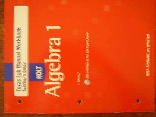 9780030930324: Teas Lab Manual Workbook Teacher's Guide Algebra 1