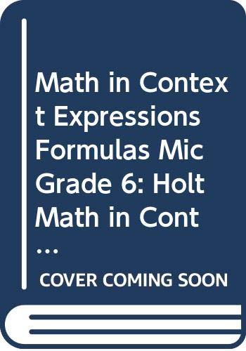 9780030930447: Holt Math in Context: Spanish Expressions Formulas Mic Grade 6