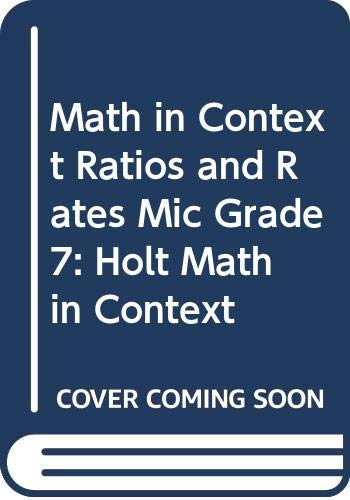 9780030930478: Holt Math in Context: Spanish Ratios And Rates Mic Grade 7