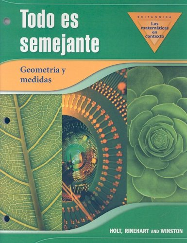 9780030930591: Holt Math in Context: Spanish Its All The Same Mic Grade 8