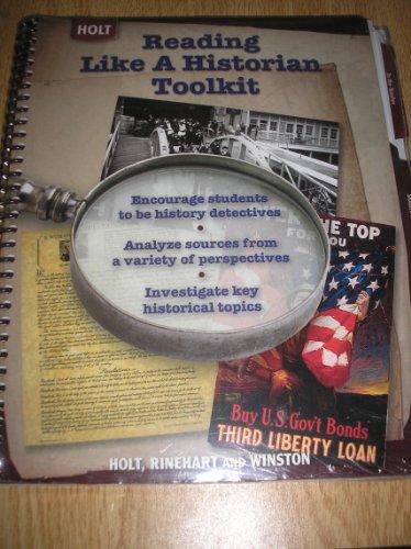 9780030930744: Holt Reading Like a Historian Toolkit