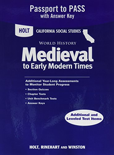 9780030930959: Holt World History California: Passport to Pass with Answer Key Grades 6-8 Medieval Times