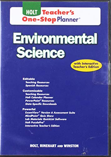 9780030931086: Holt Environmental Science, Teacher's One Stop Planner