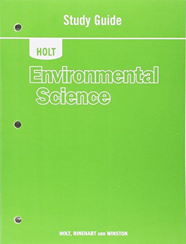 9780030931123: Holt Environmental Science: Study Guide