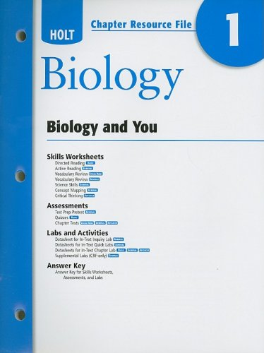 9780030931741: Holt Chapter Resource File #1 Biology and You 2008