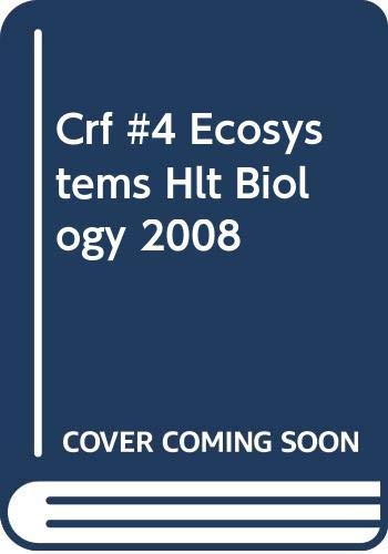 9780030931772: Holt Chapter Resource File #4 Biology Ecosystems 2008