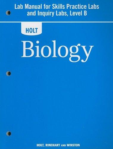 Holt Biology: Lab Manual for Skills Practice: RINEHART AND WINSTON