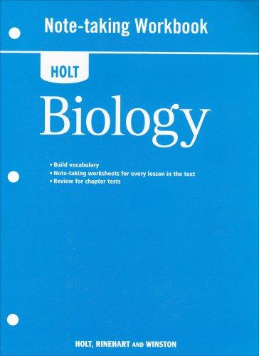 9780030932212: Holt Biology: Note-Taking Workbook