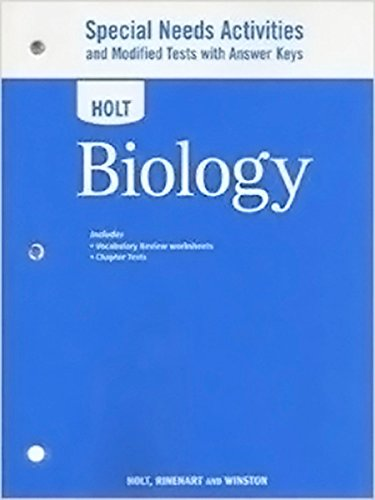 9780030932229: Holt Biology: Special Needs Activities and Modified Tests with Answer Keys 2008