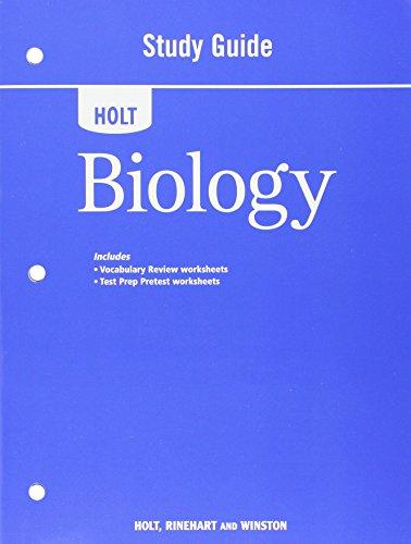 9780030932236: Holt Biology Study Guide 2008