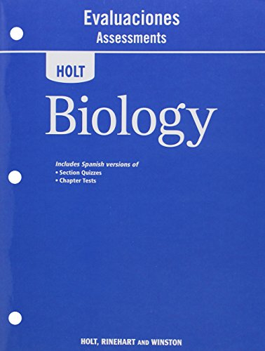 9780030932564: Holt Biology: Evaluaciones Assessments (Spanish Edition)