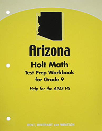9780030932779: Holt Algebra 1 Arizona: Test Prep Workbook for Grade 9