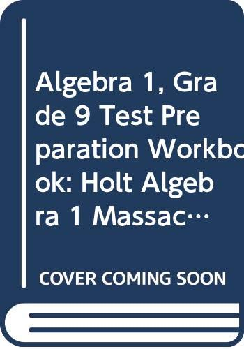 9780030932847: Holt Algebra 1 Massachusetts: Test Prep Workbook for Grade 9