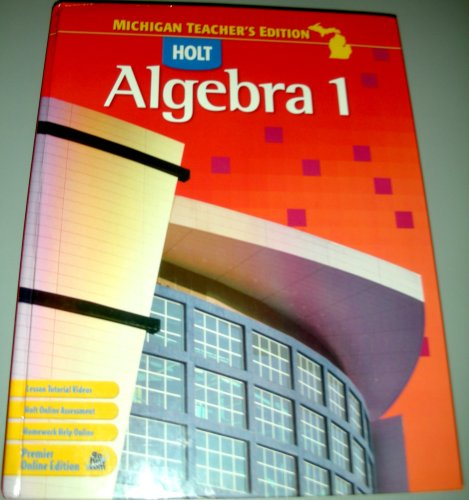 9780030932854: Holt Algebra 1 Teacher's Edition (Michigan)