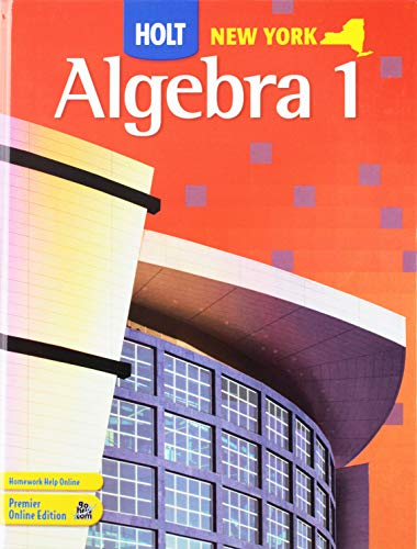 9780030932922: Holt Algebra 1 New York: Student Edition 2008
