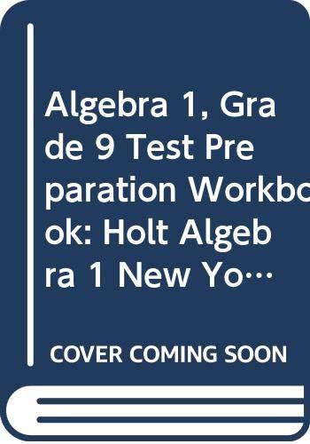 9780030932939: Holt Algebra 1 New York: Regents Test Prep Workbook for Algebra 1