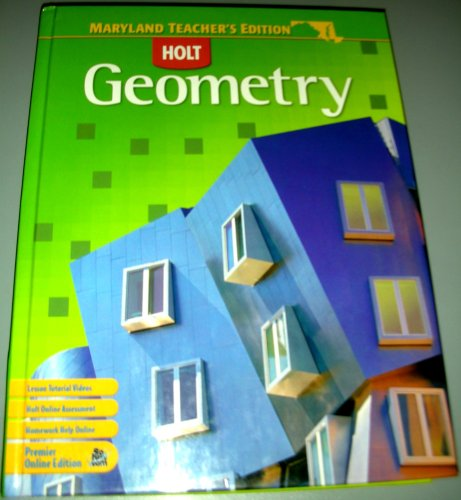 9780030933028: Holt Geometry Teacher's Edition (Maryland)
