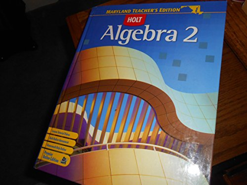 9780030933233: Holt Algebra 2 Teacher's Edition (Maryland)