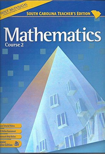 9780030933899: Mathematics Course 2 South Carolina Teacher's Edition