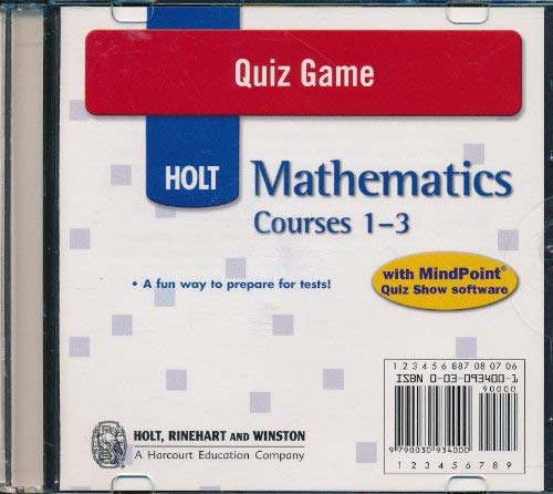 9780030934001: Holt Mathematics Course 1: Quiz Game CD-ROM