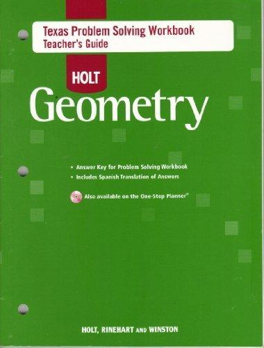 9780030934360: Holt Geometry Texas Problem Solving Workbook Teacher's Guide