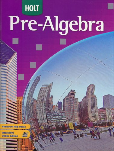 9780030934681: Holt Pre-Algebra: Student Edition 2008