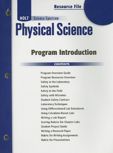 9780030935794: Holt Science Spectrum: Physical Science with Earth and Space Science: Program Introduction Resource File