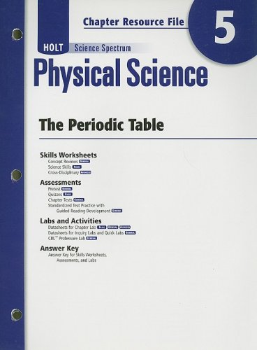 9780030935848: Holt Science Spectrum Physical Science Chapter 5 Resource File: The Periodic Table