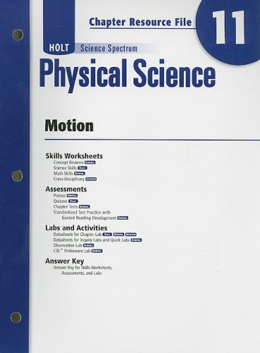 9780030935954: Holt Science Spectrum Physical Science Chapter 11 Resource File: Motion