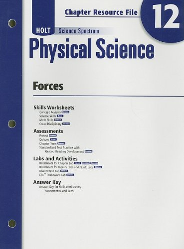 9780030935961: Holt Science Spectrum: Physical Science with Earth and Space Science: Chapter Resource File, Chapter 12: Forces Chapter 12: Forces