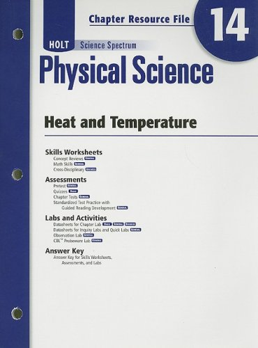 9780030936012: Holt Science Spectrum: Physical Science with Earth and Space Science: Chapter Resource File, Chapter 14: Heat and Temperature Chapter 14: Heat and Temperature