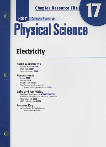 9780030936043: Holt Science Spectrum Physical Science Chapter 17 Resource File: Electricity