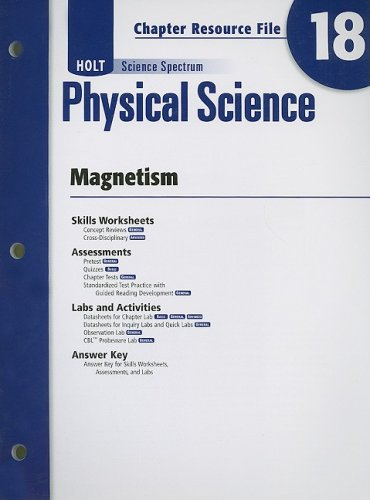 9780030936050: Holt Science Spectrum Physical Science Chapter 18 Resource File: Magnetism