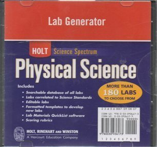 9780030936173: Holt Science Spectrum: Physical Science with Earth and Space Science: Lab Generator CD-ROM