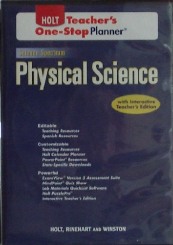 9780030936241: Holt Physical Science, Teacher's One Stop Planner