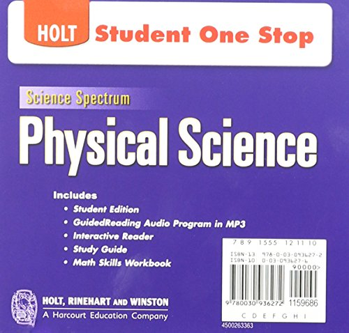 9780030936272: Holt Science Spectrum: Physical Science with Earth and Space Science: Student One-Stop CD-ROM 2008