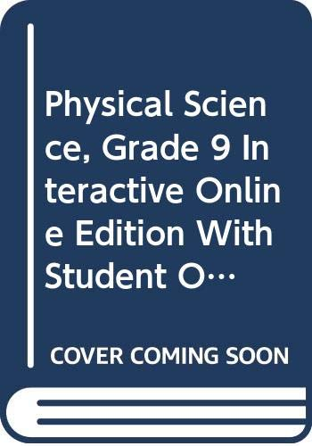 9780030936418: Holt Science Spectrum: Physical Science: Interactive Online Edition with Student One-Stop CD-ROM (6-Year Subscription) 2008