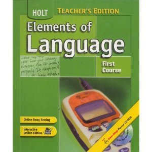9780030936487: Elements of Language First Course/Mississippi Teacher's Edition